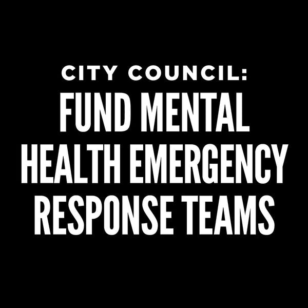 Open Letter for Mobile Mental Health Emergency Response Teams