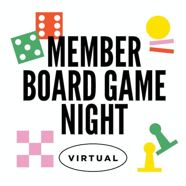 Virtual: Member Board Game Night