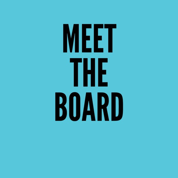 Virtual: Meet the Board