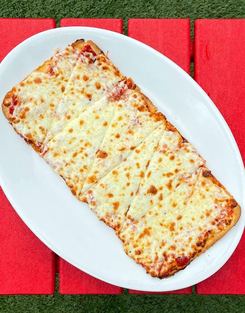 Marinara sauce, mozzarella cheese baked until bubbling