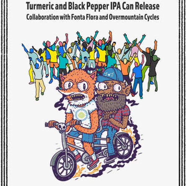Can release and bike party Food by Pho N' Rolls