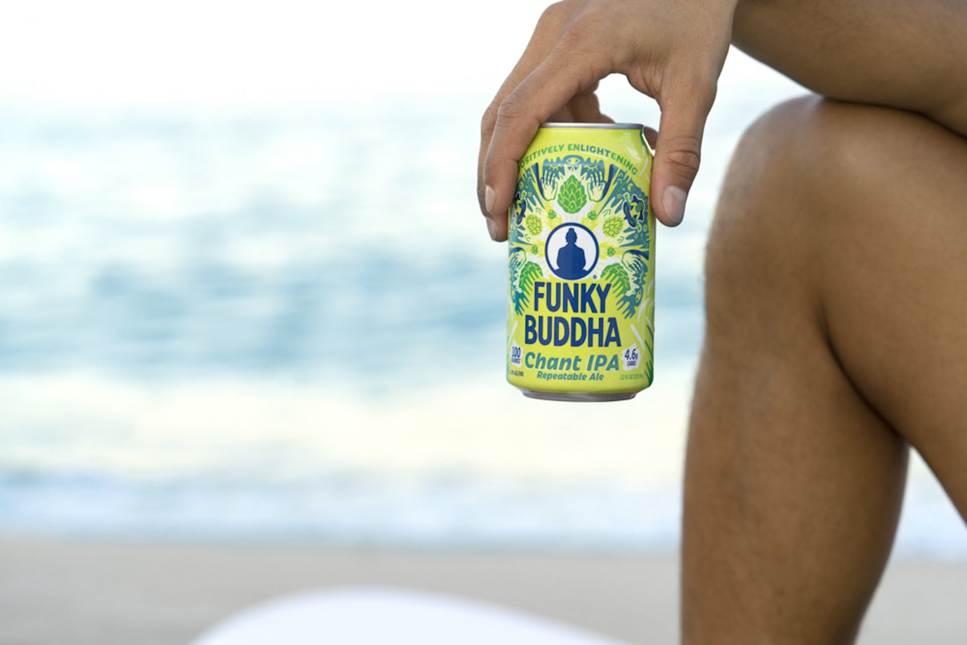 Drinking Funky Buddha beers on the beach