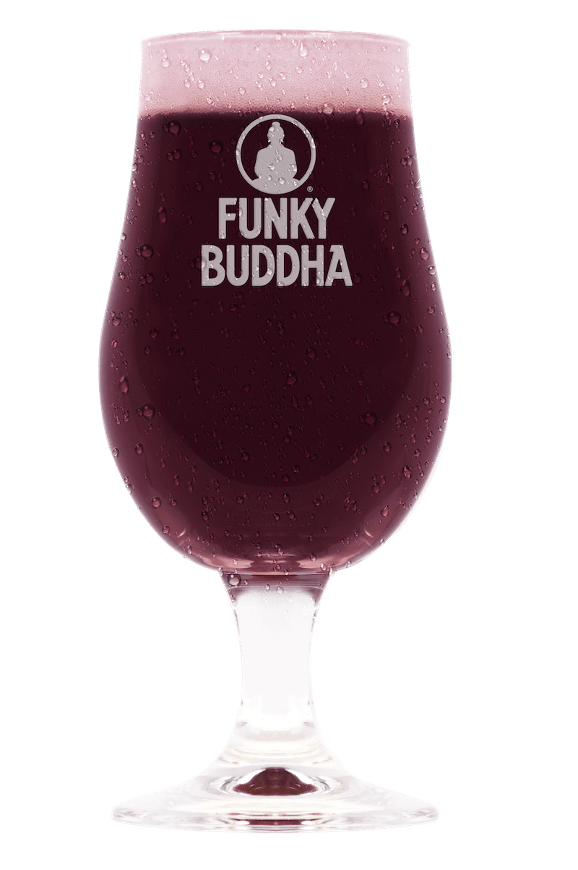 Violet colored beer in glass