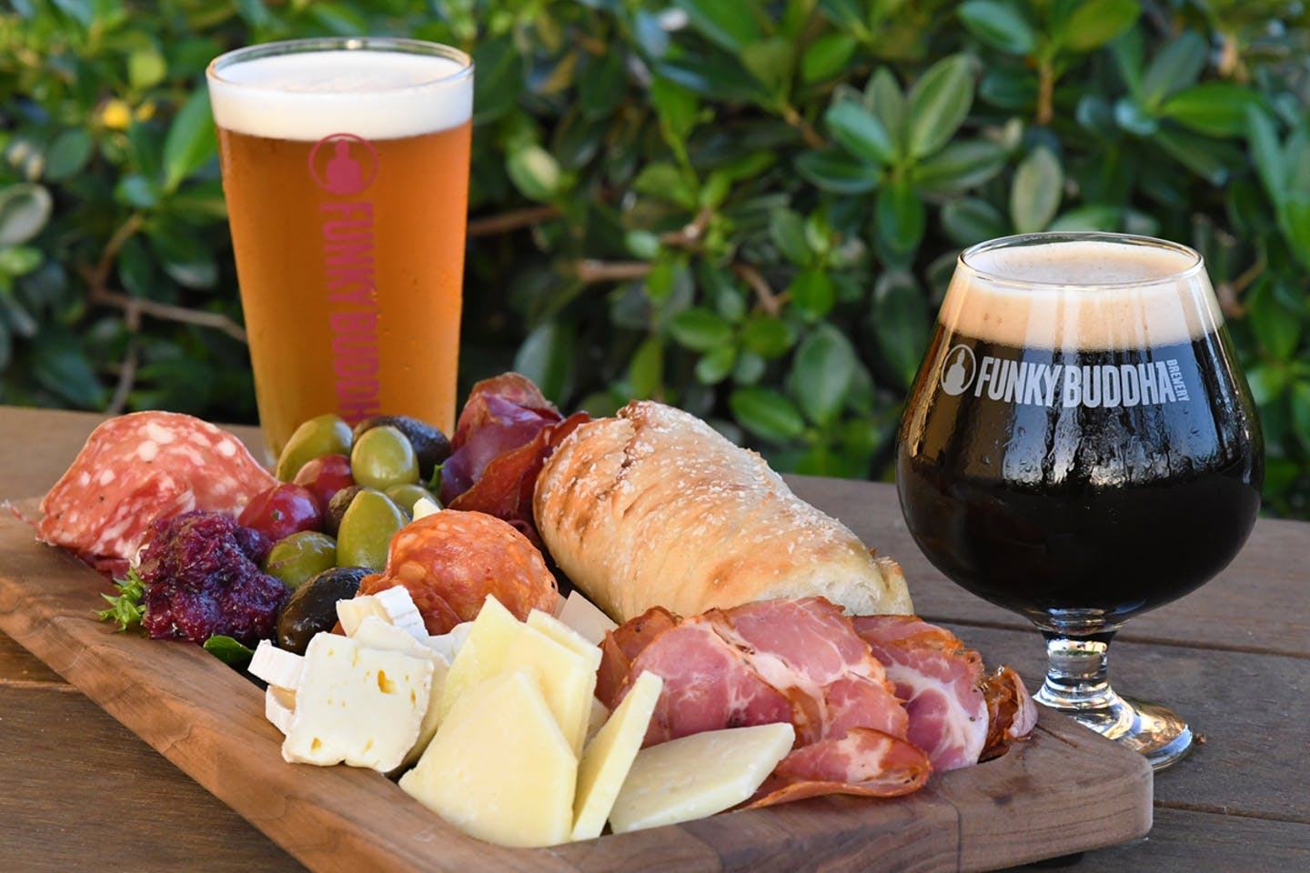 cheese board and beer