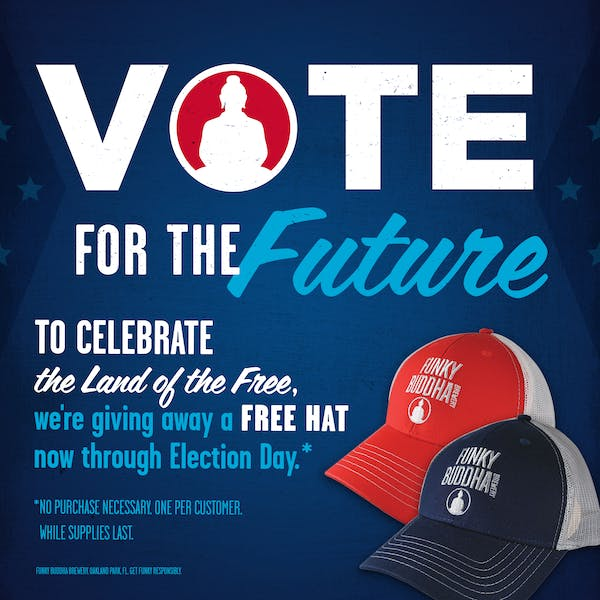 Vote For The Future: Celebrate the Land of the Free with a Free Funky Buddha Hat