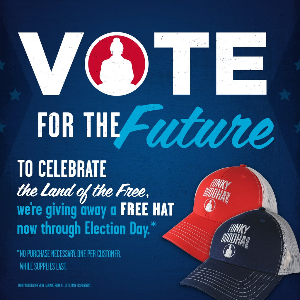 Vote For the Future. To celebrate the land of the free, we're giving away a free hat now through election day.
