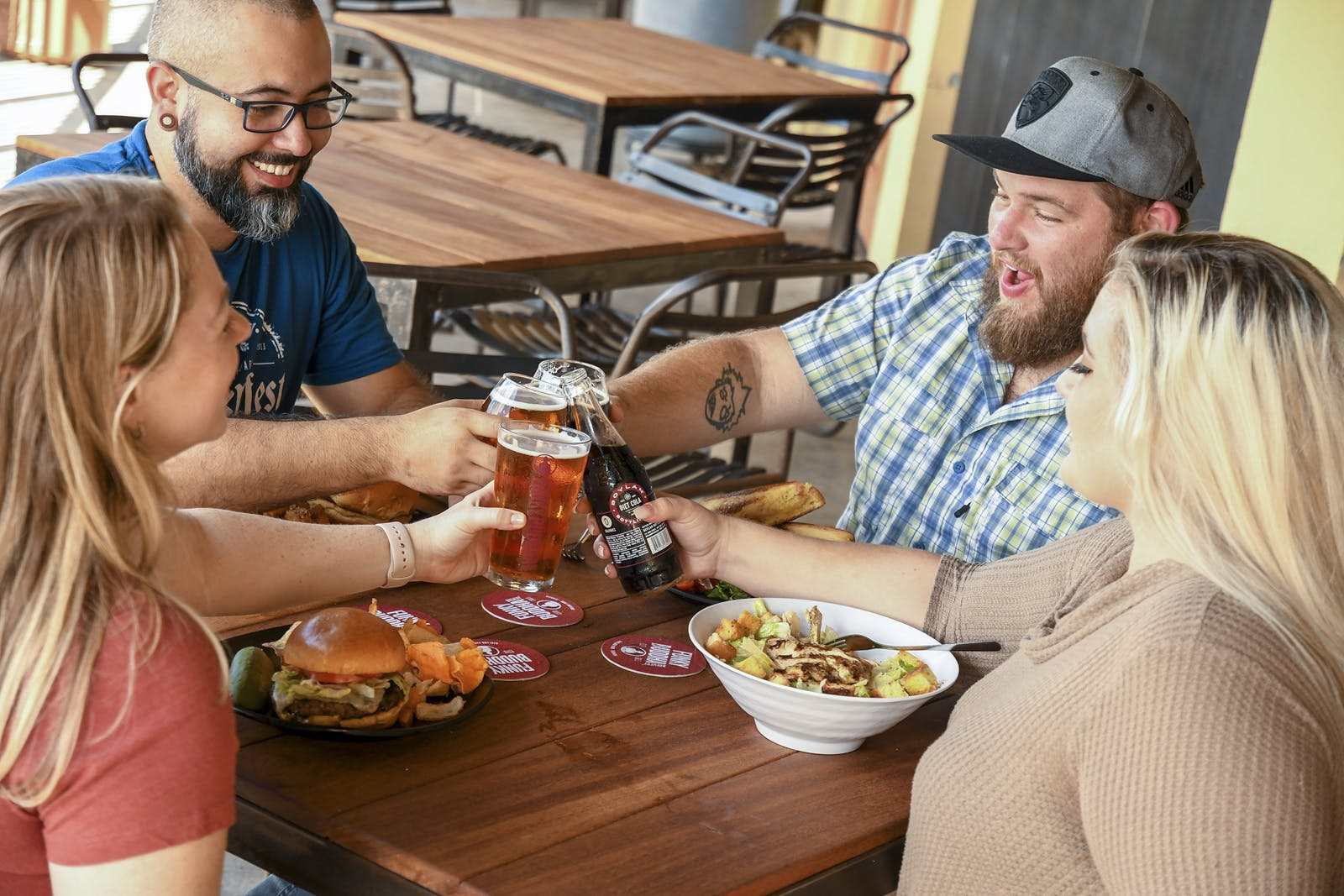 Funky Buddha customers drinking beer in taproom