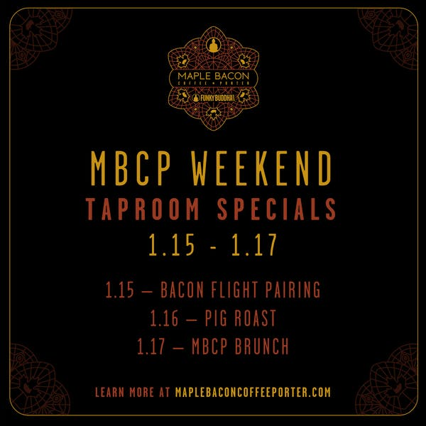 MBCP Weekend Tap Room Specials