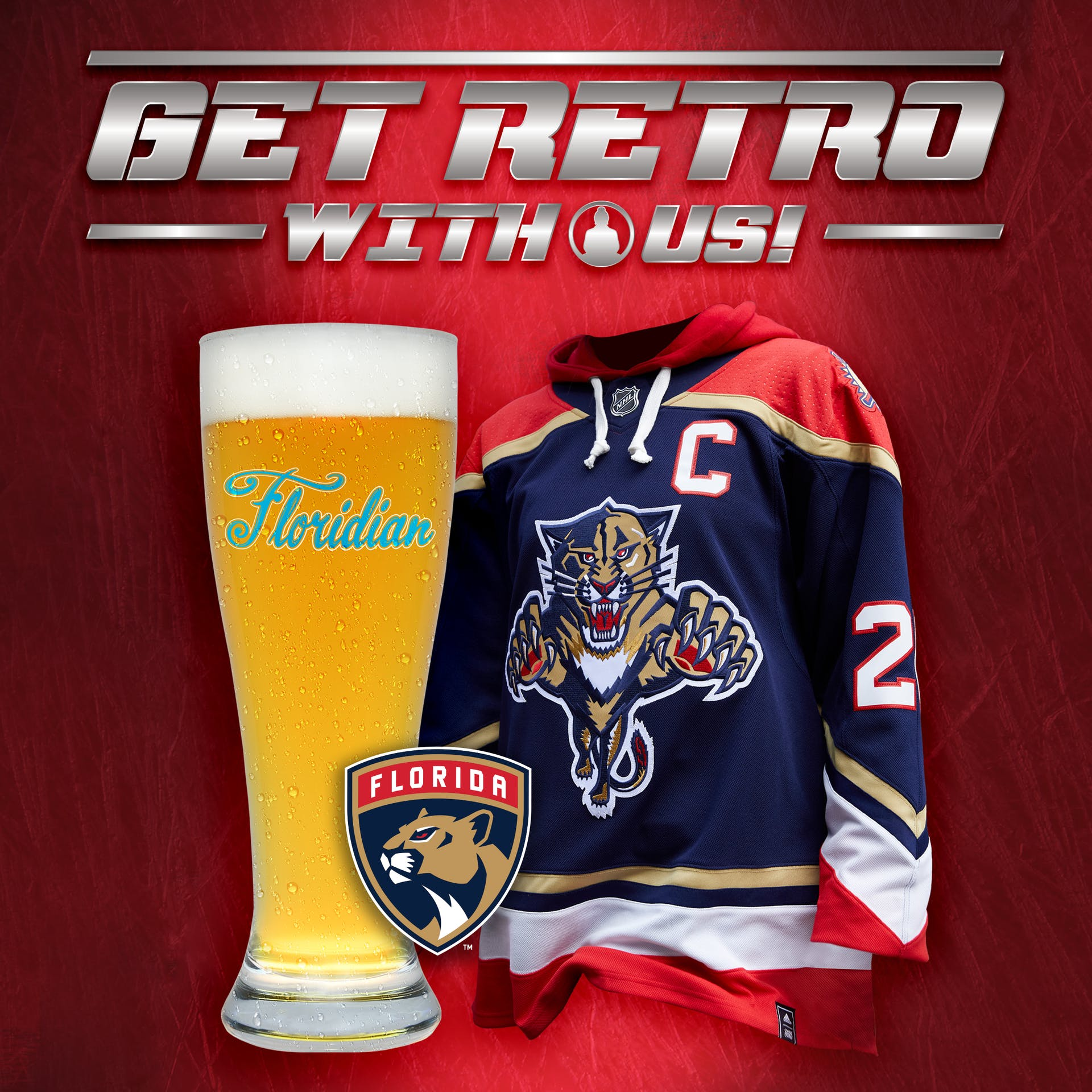 Florida Panthers Retro Reverse Jersey and Retro Floridian