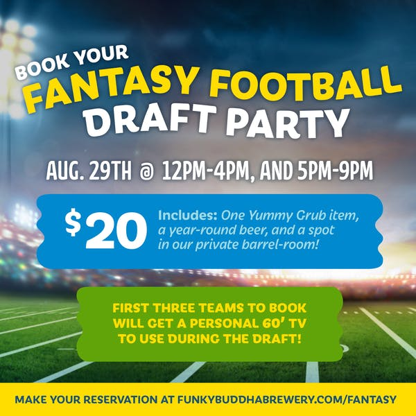 Fantasy Football Draft Party at Funky Buddha