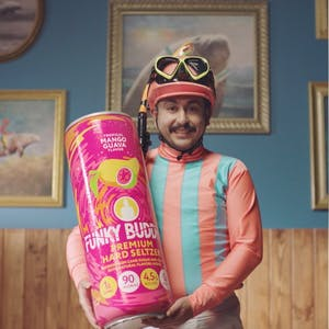 Jockey with can