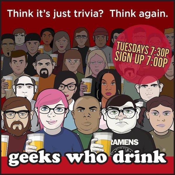 Tuesday Night Geeks Who Drink Trivia