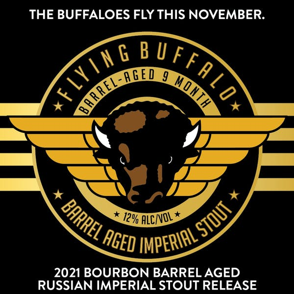 2021 Flying Buffalo Bourbon Barrel Aged Imperial Stout Release