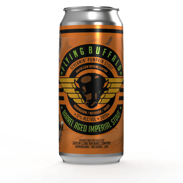 Image or graphic for Flying Buffalo Screamin Pumpkin Bourbon Barrel Aged Imperial Stout