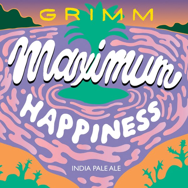 Maximum Happiness IPA can art