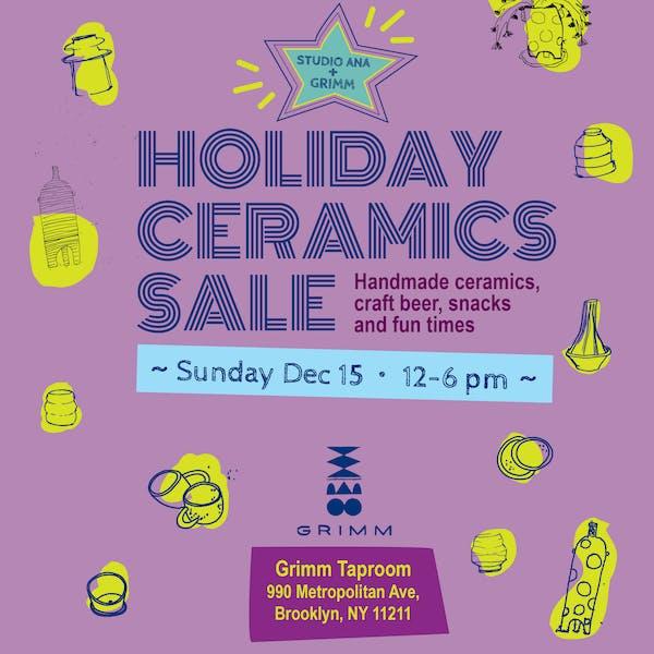 Holiday Ceramics Sale @ Grimm!