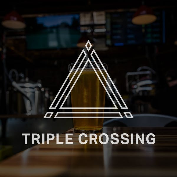 triple crossing label art