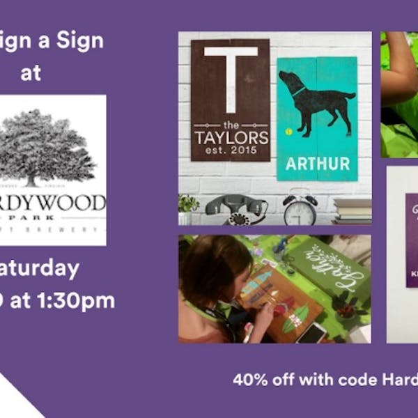 Design a Sign at Hardywood Charlottesville