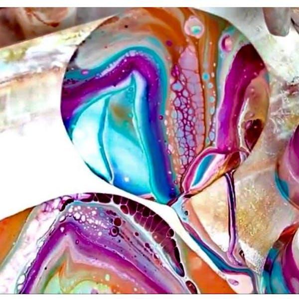 Acrylic pour workshop example
