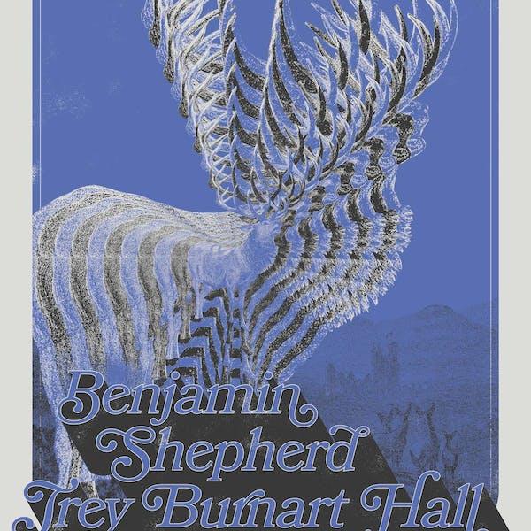 benjamin shepher, trey burhart hall, age s concert poster