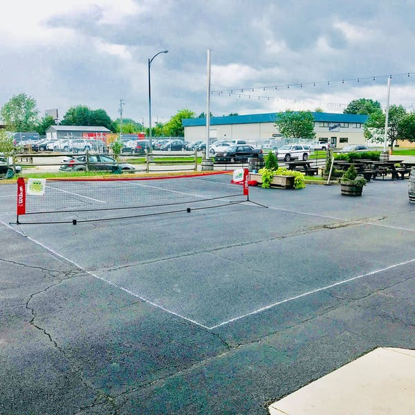 Tennis court in the Hardywood Parking lot