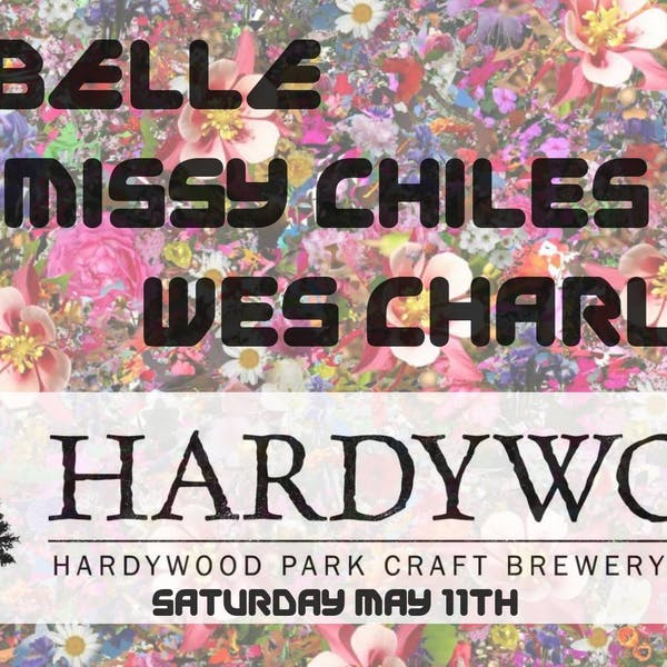 exebelle, missy chiles, wes charlton concert poster