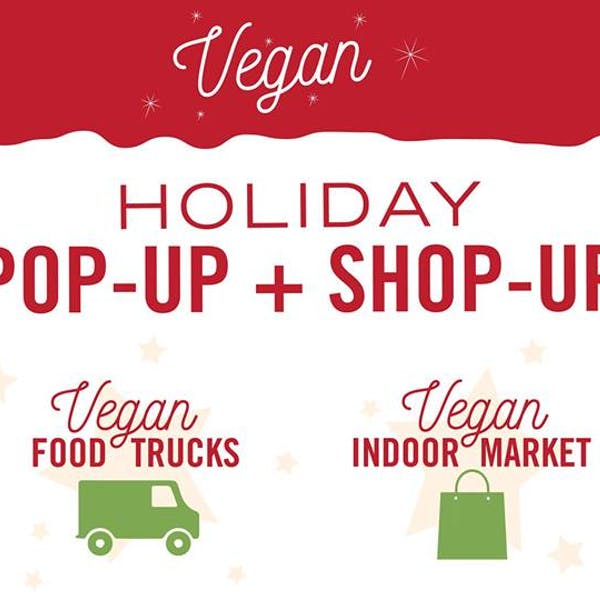 holiday vegan pop up shop up