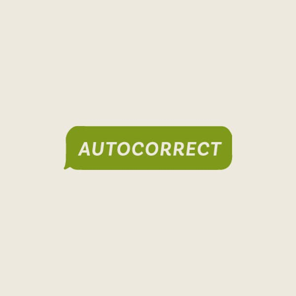 Image or graphic for Autocorrect