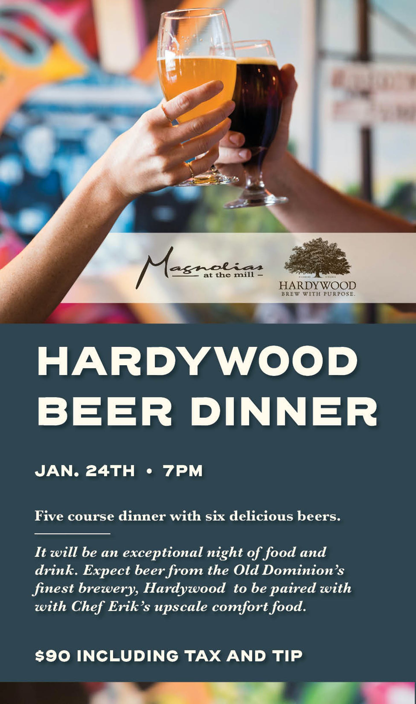 EEP Magnolias - Hardywood Dinner - Postcard 5x3.25