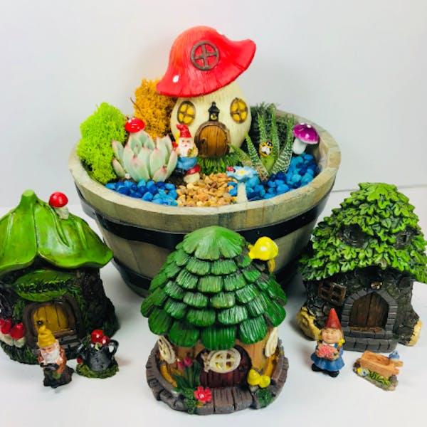 gnome home in a wine barrel