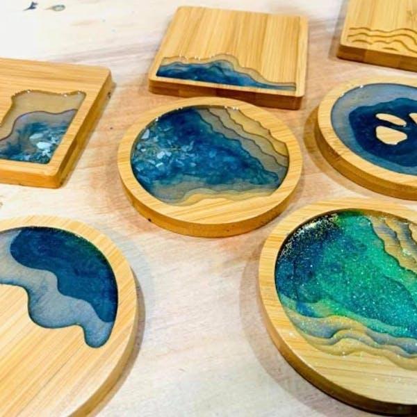 Resin Wooden Coaster Workshop Hardywood West Creek 8.17.21