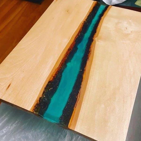 Paint N Play Live Edge Resin Cutting Board Workshop