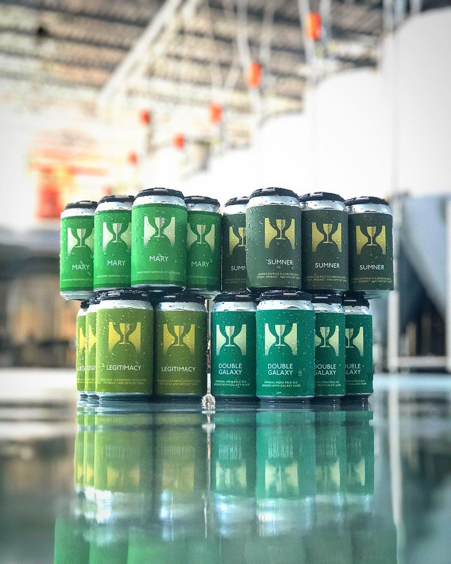 cans in the production facility