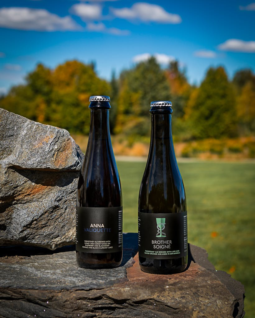 Bottles of Anna Valiquette and Brother Soigné: Gin Barrel-Aged