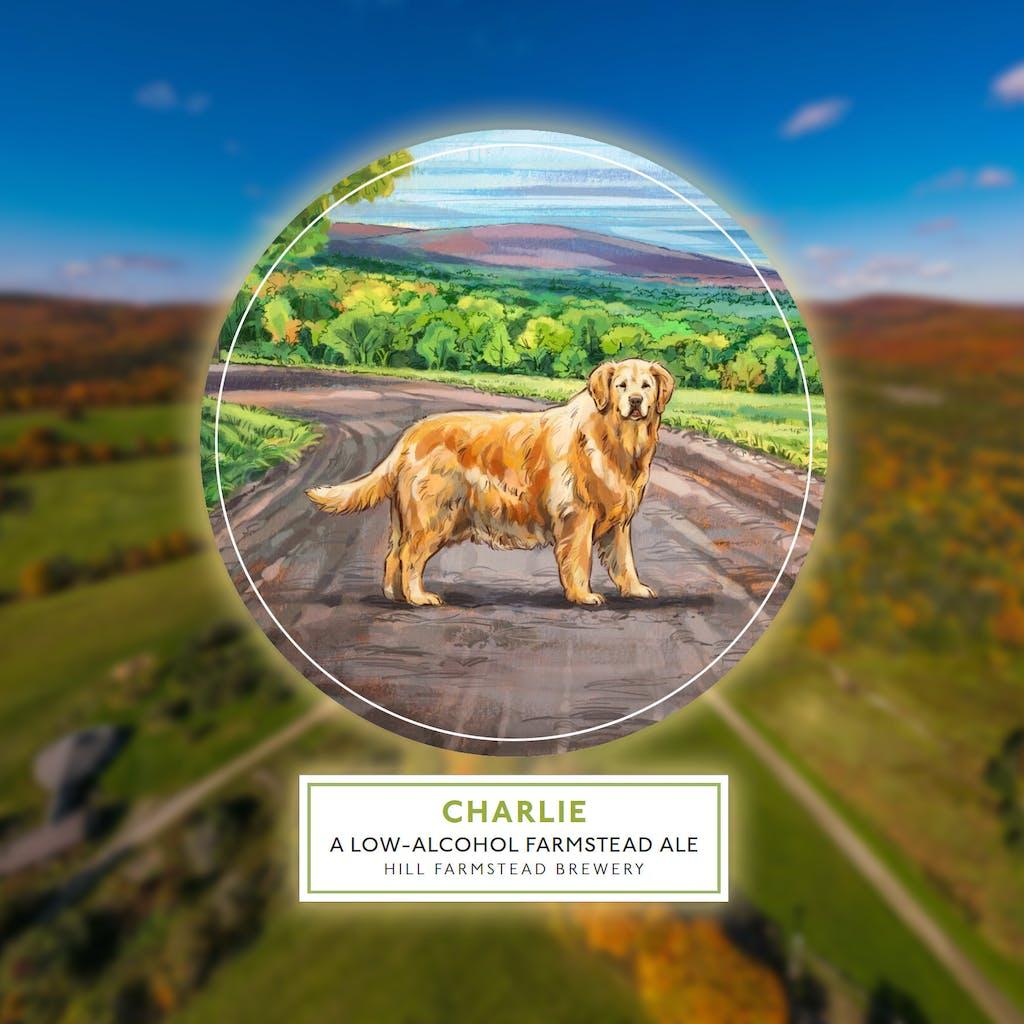 Charlie label on foliage