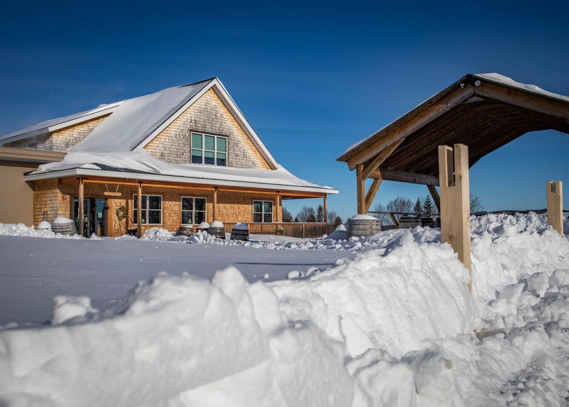 External tastingroom winter