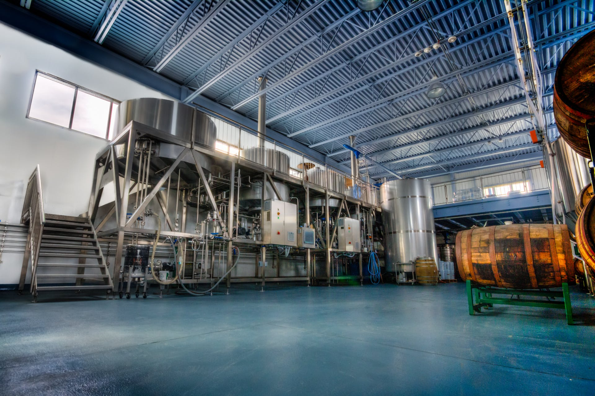 Inside the brewhouse