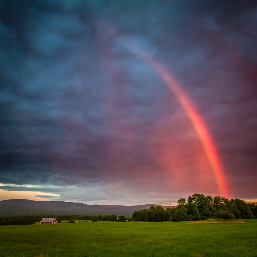 rainbow over jaffin
