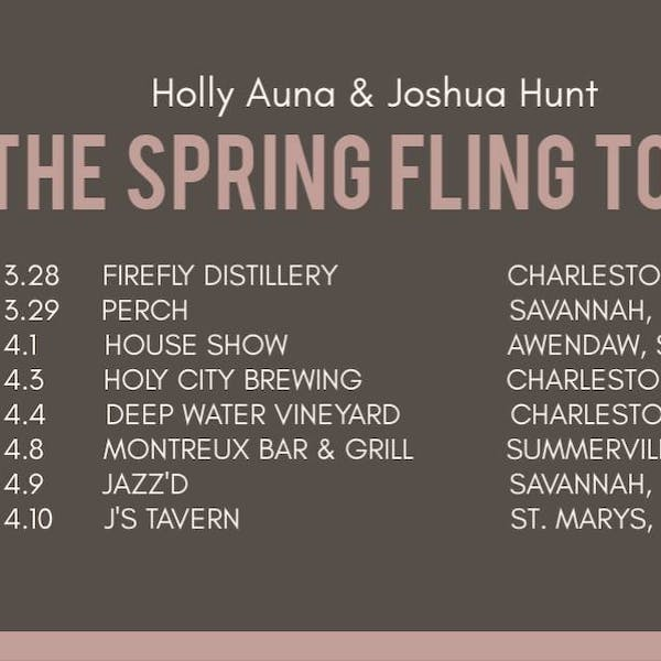 Live Music Fridays: Holly Auna and Josh Hunt on the Spring Fling Tour