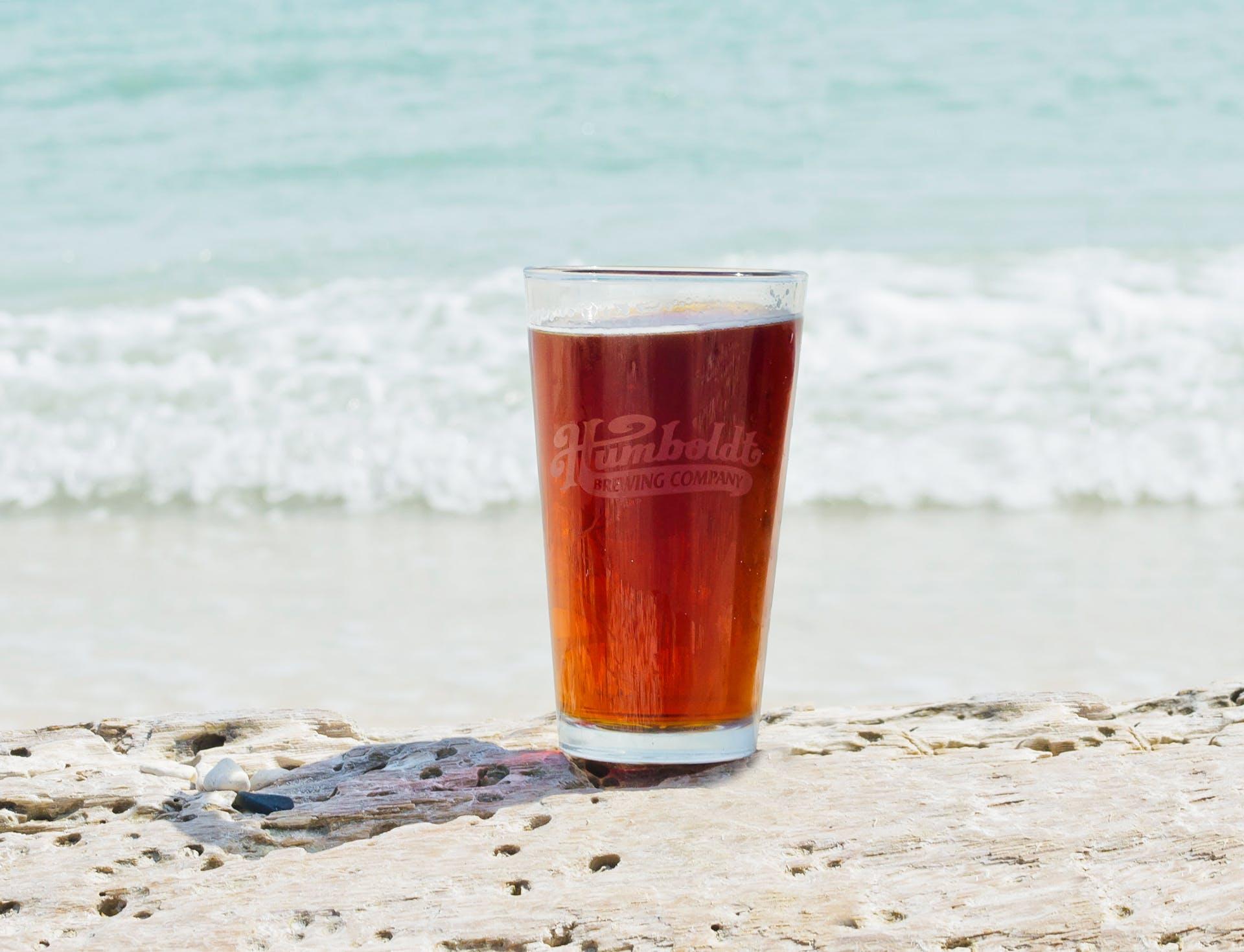 Humboldt Draft Beer On Beach
