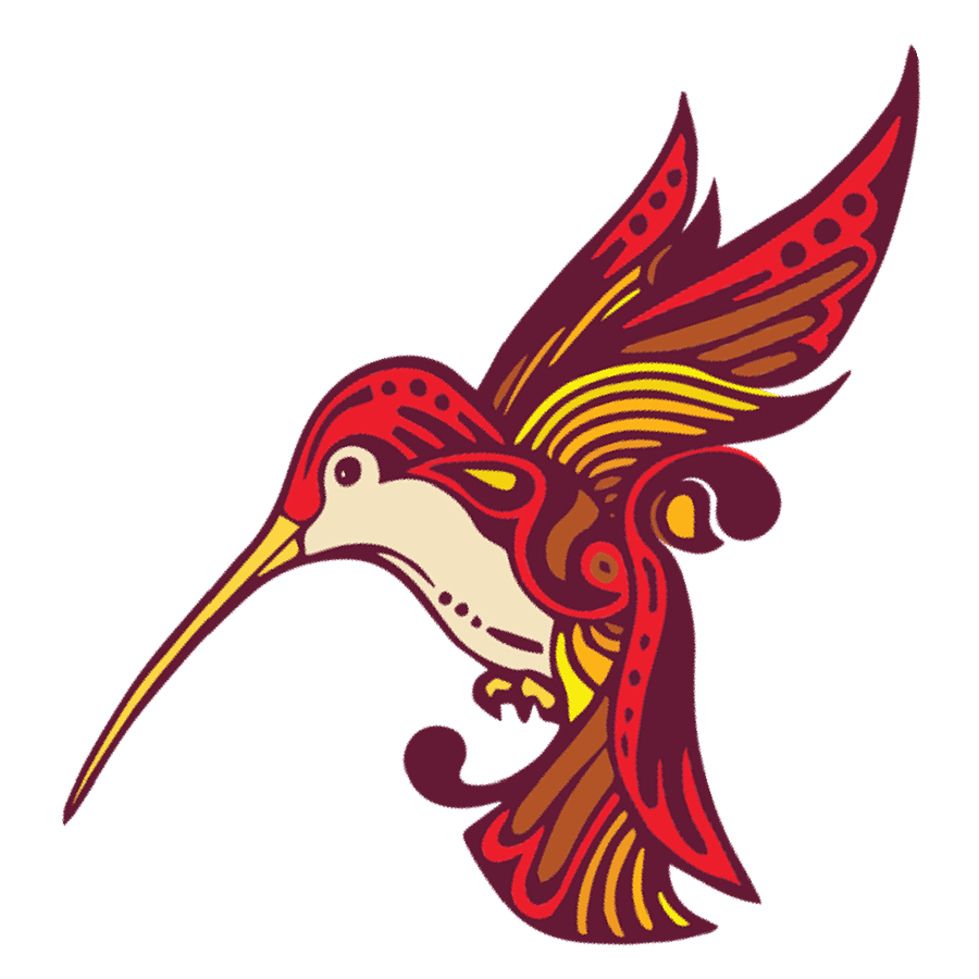 Humboldt humming bird logo red