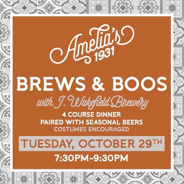 Brews & Boos at Amelia's 1931