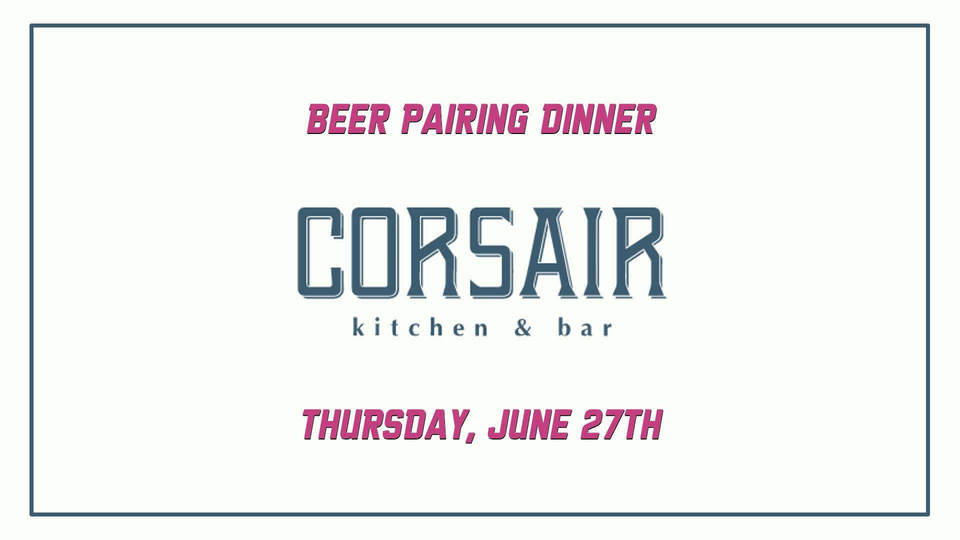 CORSAIR Beer Dinner FB Banner