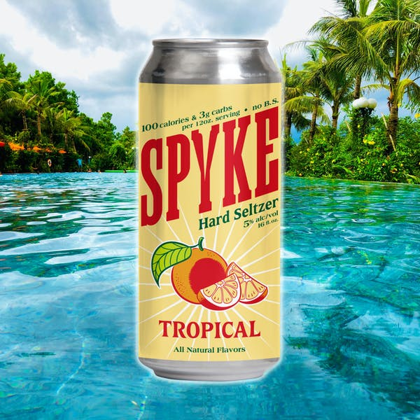 Spkye Hard Seltzer now available at both Hideouts!