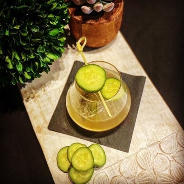 Bourbon Cucumber Cocktail