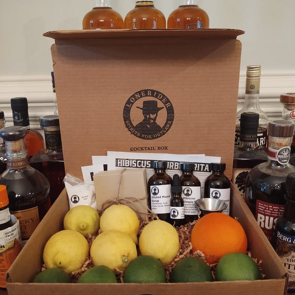 """Lonerider Spirits """"Drink in the New Year – Bundled Bourbon Cocktail Box"""" for January"""