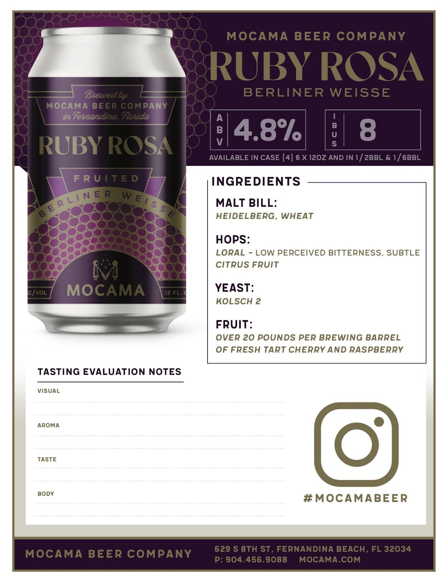 MOCAMA RUBY ROSA SELL SHEET