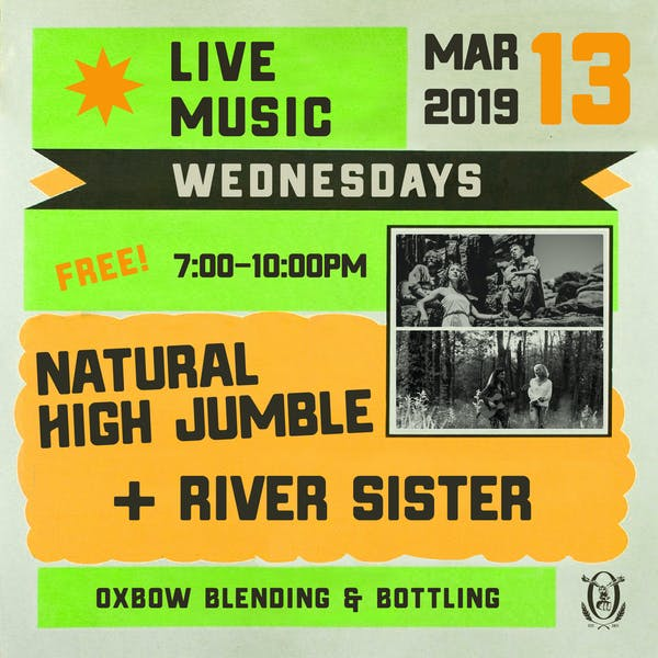 Live Music Wednesdays: Natural High Jumble & River Sister