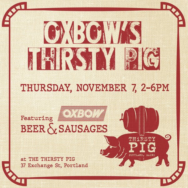 Portland Beer Week: Oxbow's Thirsty Pig