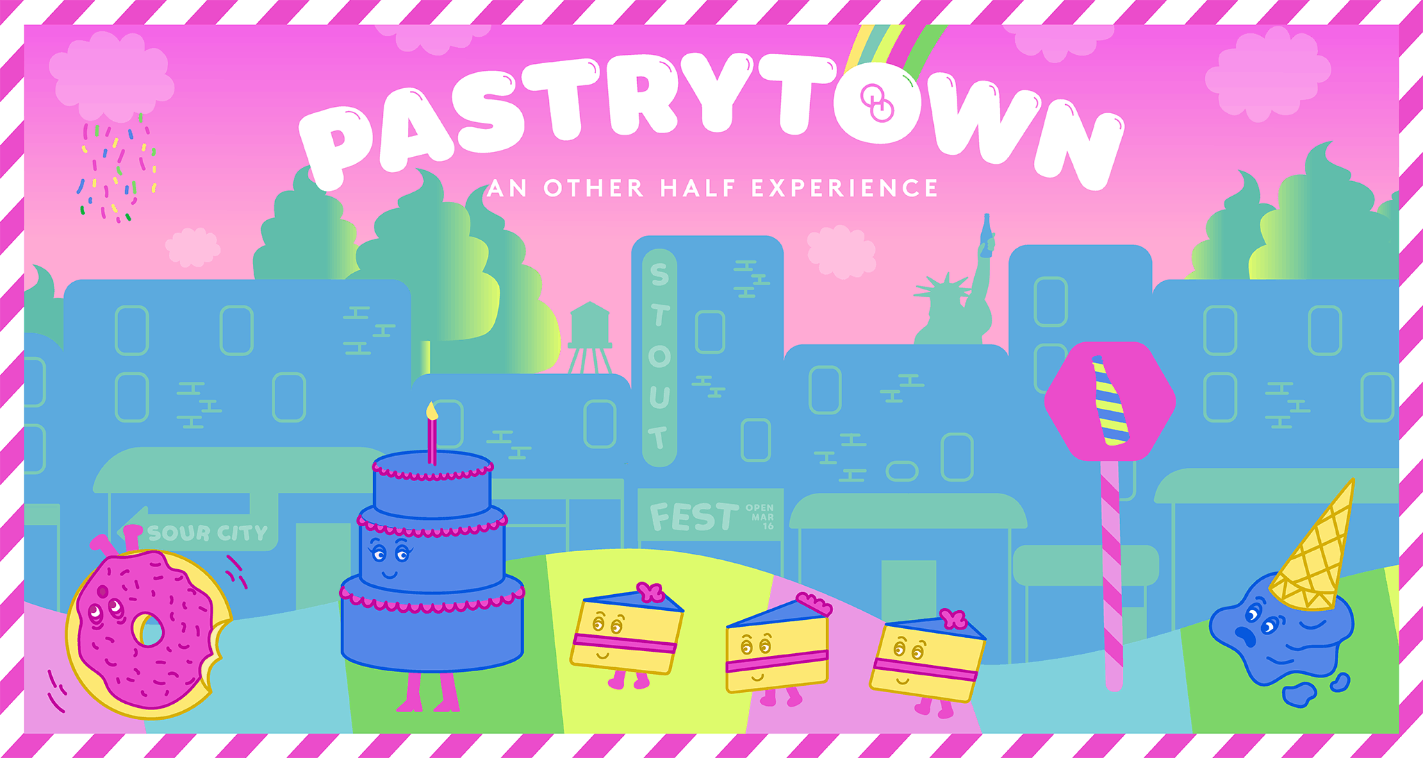 Pastrytown - Website Header